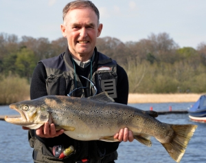 Alan Campbell with his record breaking brown trout
