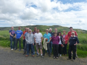 Staff from the Royal Bank of Scotland at Loch Leven's Larder car park