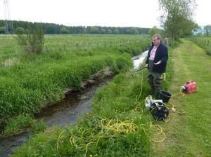 Dr David Summers explains electro-fishing