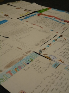 Letters of thanks from Kinross Primary School