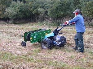 David using the hay rake