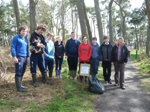 Last year's group assisted with loads of tasks, including the 'Flagging up the Issue' project last spring.