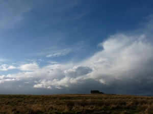 The clouds against blue sky- a classic autumnal day