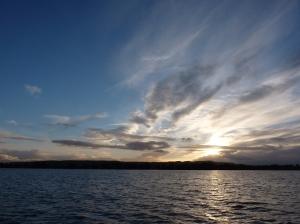 A beautiful autumn sunset