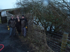 ...the stock fencing on the other side of the hide was also extended