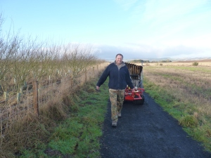 Roderick gets to grips with our trusty steed