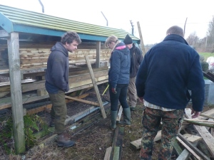 Discussions took place over the timber storage
