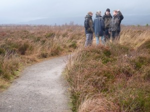 Iain talking about the special features of Flander's Moss NNR