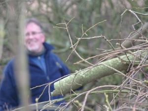 David enjoying a laugh whilst hard at work