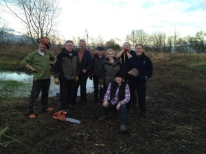 Happy group of volunteers that have made my time at Loch Leven very enjoyable.