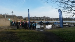 The full circuit walkers prepare to set off on the Chest, Heart and Stroke Scotland Walkathon