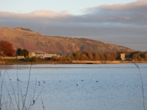 The watchtower and Lochleven Castle