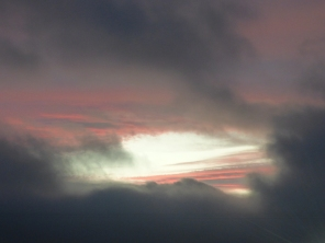 Sunset through the clouds