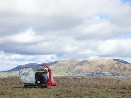 Softrak with Lomond Hills behind